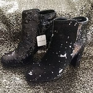 Two Way Sequin Boots